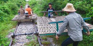 battambang bamboo trains new track