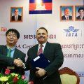 Cambodia, Angkor Air, Bassaka Air, T'Way Airlines, All Nippon Airways, Lao Airlines, flight routes, domestic flights, international flights
