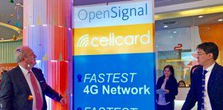 cellcard opensignal fastest network award cambodia