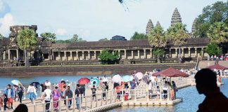 angkor wat floating bridge tourism
