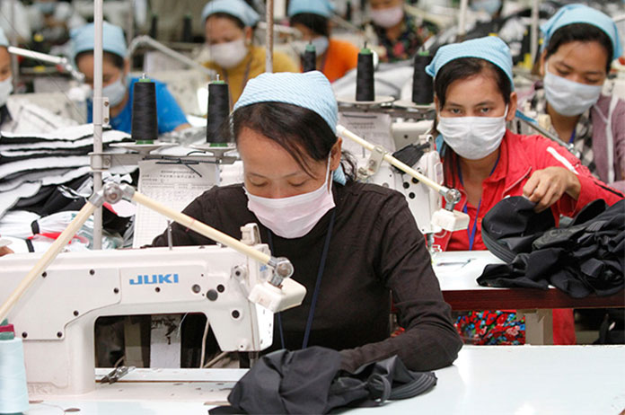 Garment factories in Cambodia