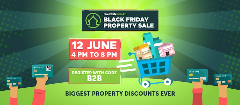 B2B Cambodia Black Friday Property Sale 2020 discount