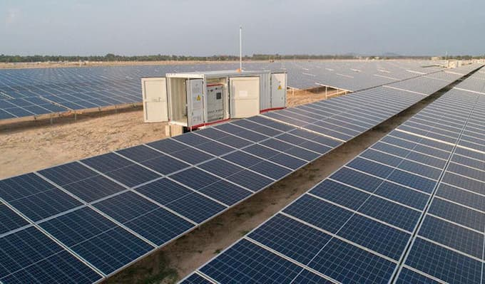 Solar Power Plant in Kampong Speu Cambodia