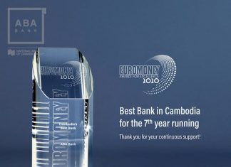 ABA​ Bank wins Euromoney's 'Best​ Bank​ in​ Cambodia​ 2020' award
