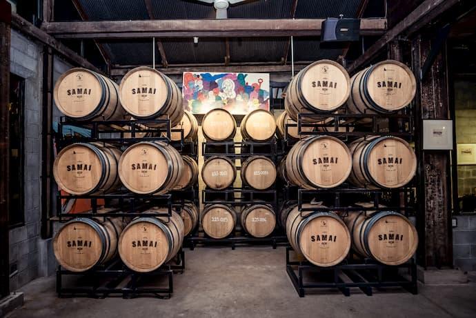 Samai Rum barrels