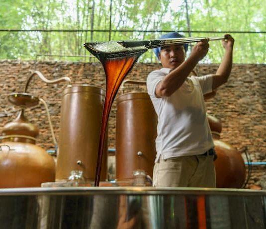 Samai rum used top quality molasses