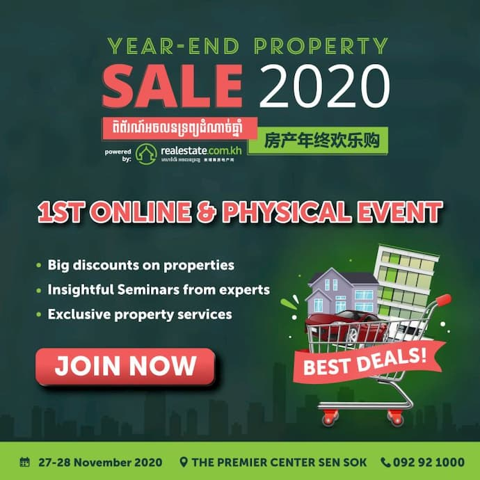 Realestate.com.kh Year-End Property Sale 2020