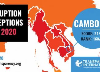 The Transparency International's (TI) Corruption Perception Index (CPA) Cambodia