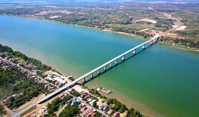 The Cambodia-China Friendship Bridge, which connects Kampong Cham and Tboung Khmum provinces