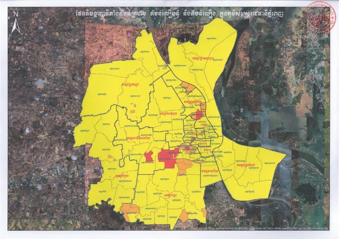 Phnom PEnh COVID Zones May 2021