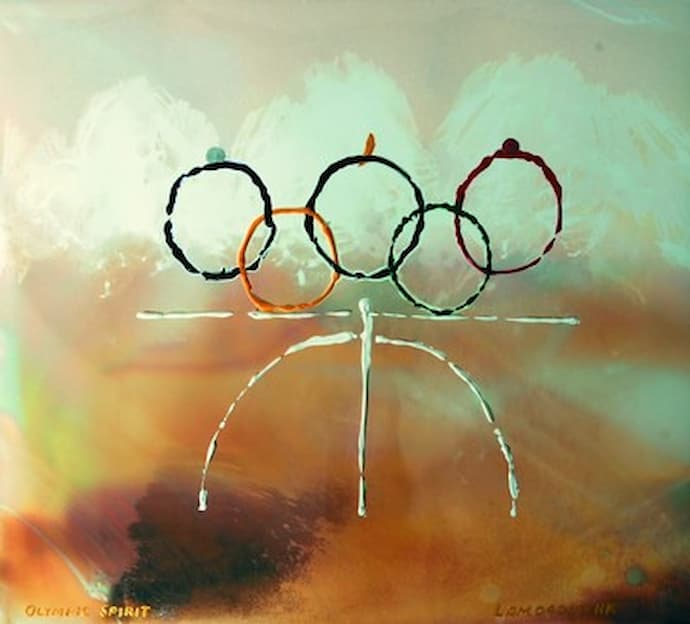 """BOAX NFT- first Olympic themed NFT artwork """"Olympic Happiness"""""""